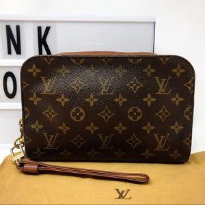 Louis Vuitton Monogram orsay wristlet clutch bag